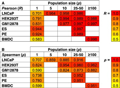Reduction of Gene Expression Variability from Single Cells to Populations follows Simple Statistical Laws