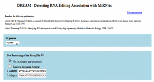 DREAM – Detecting RNA Editing Associated with MicroRNAs