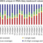 Inconsistency of somatic SNVs called in WES and RNA-Seq data