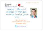Modern RNA-seq differential expression analyses: transcript-level or gene-level