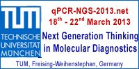 qPCR & NGS 2013 – Early Bird Registration Peroid & Abstract Call