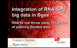 Integration of RNA-Seq Big Data in Bgee Interface