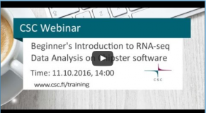 Beginner's Introduction to RNA-seq Data Analysis Using the Chipster software