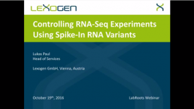 Webinar – Controlling RNA Seq Experiments Using Spike In RNA Variants