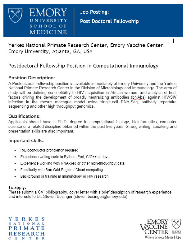 Job Posting: Postdoctoral Fellowship Position in